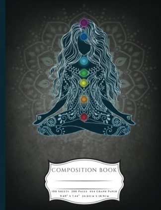 Meditating Lotus Asana Seven Chakras Composition Book
