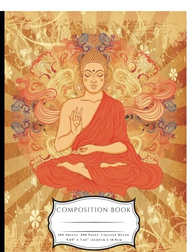 Siddhartha Gautama Buddha Meditating Composition Book