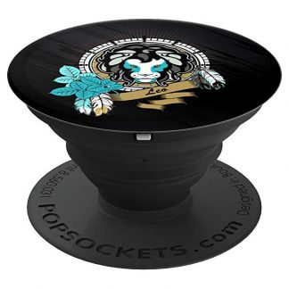 Leo Zodiac Symbol Lions Head Astrology - PopSockets Grip and Stand for Phones and Tablets