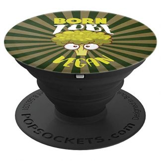 Born To Be Vegan Angry Broccoli Vegan Lifestyle - PopSockets Grip