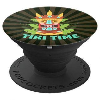 Tiki Time Polynesian Hawaiian Island Tiki Totem - PopSockets Grip
