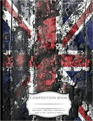 Distressed British Union Jack Flag Composition Book
