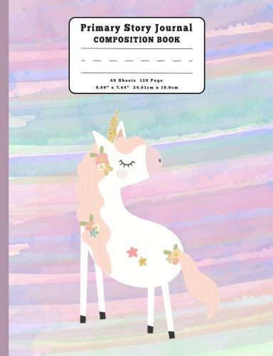 Unicorn Primary Story Journal Composition Book