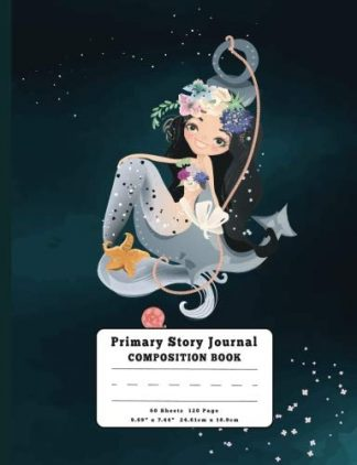 I'm A Mermaid Primary Story Journal Composition Book