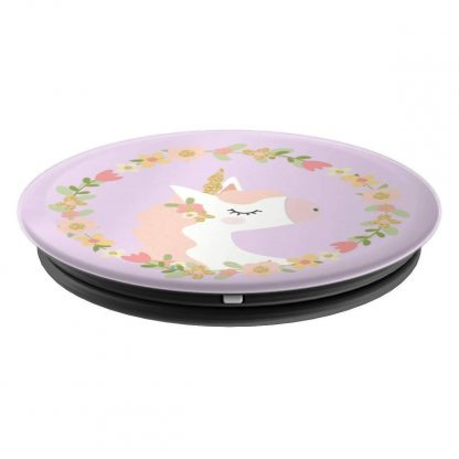 Pastel Unicorn With Floral Wreath - PopSockets Grip