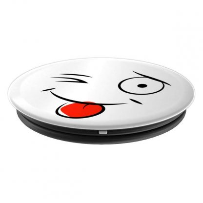 Silly Winking Cartoon Face with Tongue Out - PopSockets Grip