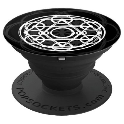 Sacred Geometry Hand Sketched Metatron's Cube Seed of Life - PopSockets Grip