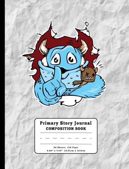 Shhh Cute Monster Coming Through Primary Story Journal Composition Book