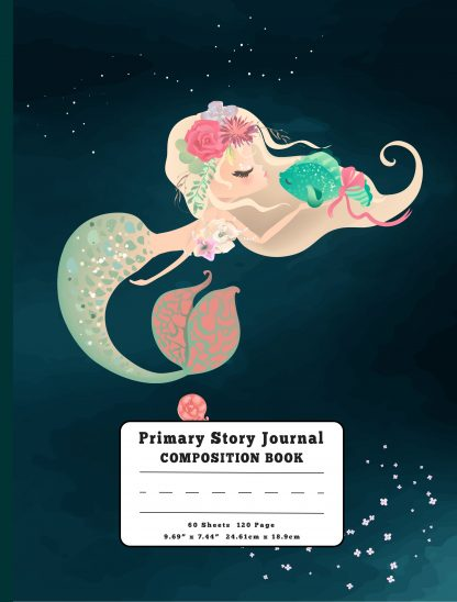 Mermaid Kisses Primary Story Journal Composition Book