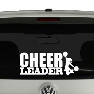Cheerleader Cheer Pom Poms Vinyl Decal Sticker