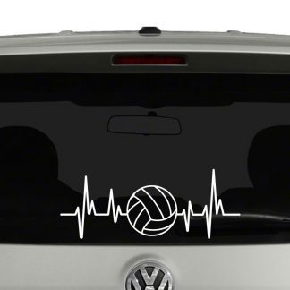 Volleyball Heartbeat Volleyball Lovers Players Parents Vinyl Decal Sticker