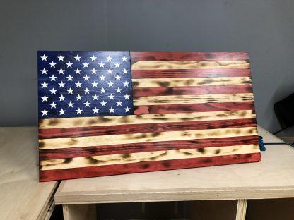 Wooden Rustic American Flag