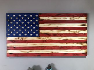 Wooden Rustic American Flag