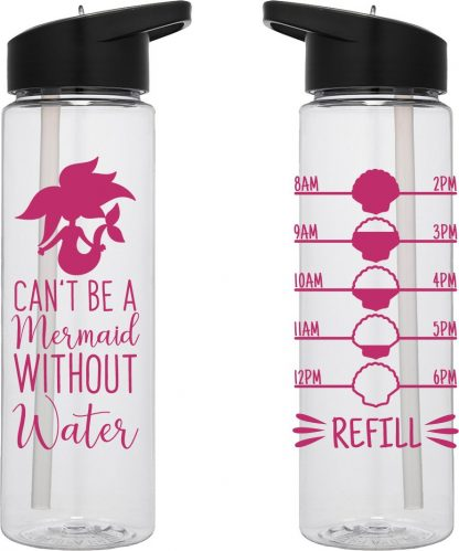 Water Tracker – Can't Be A Mermaid Without Water Water Bottle 24 Oz