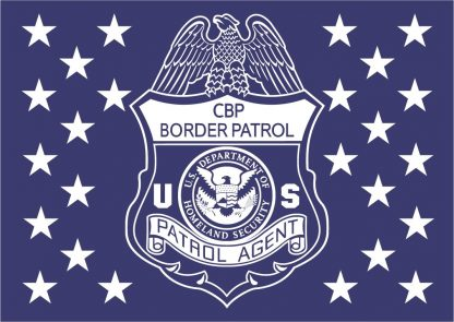 wood flag border patrol